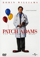 Cover zum Film Patch Adams. Der Film mit Robin Williams und Monica Potter